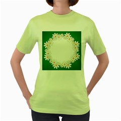 Photo Frame Love Holiday Women s Green T-Shirt