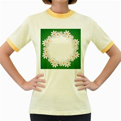 Photo Frame Love Holiday Women s Fitted Ringer T-Shirts