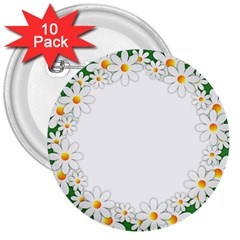 Photo Frame Love Holiday 3  Buttons (10 Pack)