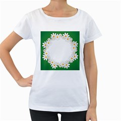 Photo Frame Love Holiday Women s Loose Fit T Shirt (white)