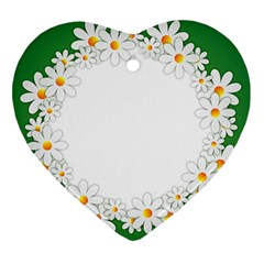 Photo Frame Love Holiday Heart Ornament (two Sides)