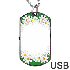 Photo Frame Love Holiday Dog Tag USB Flash (One Side)