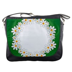 Photo Frame Love Holiday Messenger Bags
