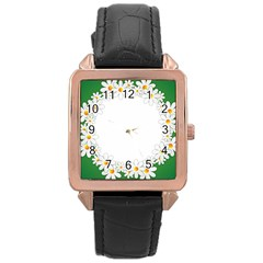 Photo Frame Love Holiday Rose Gold Leather Watch