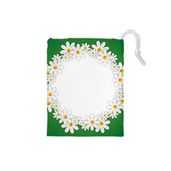 Photo Frame Love Holiday Drawstring Pouches (Small)