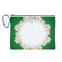 Photo Frame Love Holiday Canvas Cosmetic Bag (L)