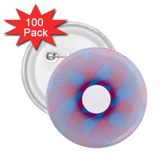 Spirograph Pattern Drawing Design 2.25  Buttons (100 pack)