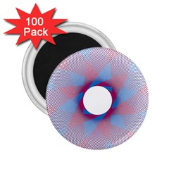 Spirograph Pattern Drawing Design 2 25  Magnets (100 Pack)