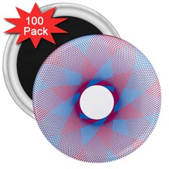 Spirograph Pattern Drawing Design 3  Magnets (100 Pack)
