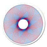 Spirograph Pattern Drawing Design Magnet 5  (Round) Front