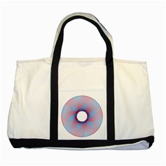 Spirograph Pattern Drawing Design Two Tone Tote Bag