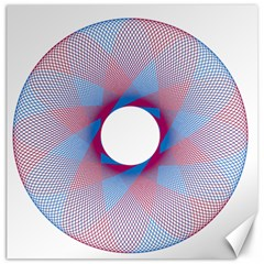 Spirograph Pattern Drawing Design Canvas 16  x 16