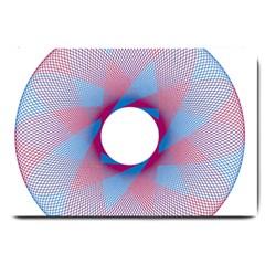 Spirograph Pattern Drawing Design Large Doormat