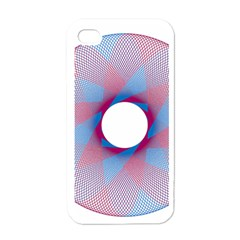 Spirograph Pattern Drawing Design Apple Iphone 4 Case (white)
