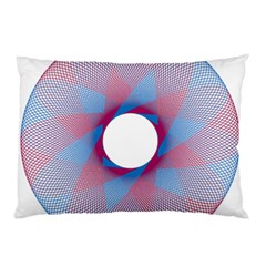 Spirograph Pattern Drawing Design Pillow Case (two Sides)