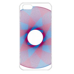 Spirograph Pattern Drawing Design Apple iPhone 5 Seamless Case (White)