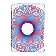 Spirograph Pattern Drawing Design Apple iPad Mini Hardshell Case (Compatible with Smart Cover)