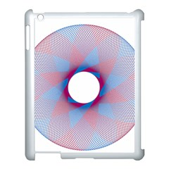 Spirograph Pattern Drawing Design Apple Ipad 3/4 Case (white)