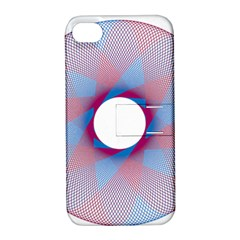 Spirograph Pattern Drawing Design Apple Iphone 4/4s Hardshell Case With Stand