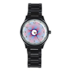 Spirograph Pattern Drawing Design Stainless Steel Round Watch
