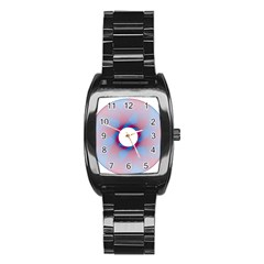 Spirograph Pattern Drawing Design Stainless Steel Barrel Watch