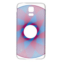 Spirograph Pattern Drawing Design Samsung Galaxy S5 Back Case (white)