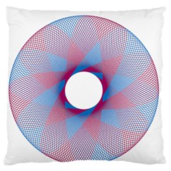 Spirograph Pattern Drawing Design Standard Flano Cushion Case (one Side)