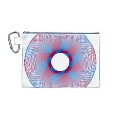 Spirograph Pattern Drawing Design Canvas Cosmetic Bag (m)