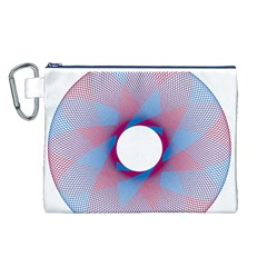 Spirograph Pattern Drawing Design Canvas Cosmetic Bag (L)
