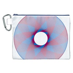 Spirograph Pattern Drawing Design Canvas Cosmetic Bag (xxl)