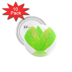 Leaves Green Nature Reflection 1.75  Buttons (10 pack)