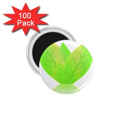 Leaves Green Nature Reflection 1 75  Magnets (100 Pack)