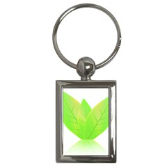Leaves Green Nature Reflection Key Chains (rectangle)