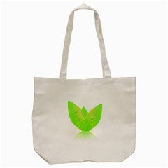 Leaves Green Nature Reflection Tote Bag (Cream)