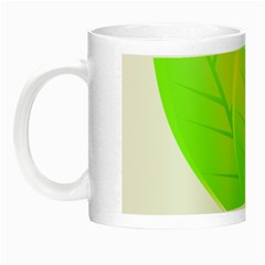 Leaves Green Nature Reflection Night Luminous Mugs