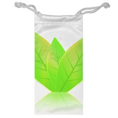 Leaves Green Nature Reflection Jewelry Bag