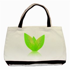 Leaves Green Nature Reflection Basic Tote Bag