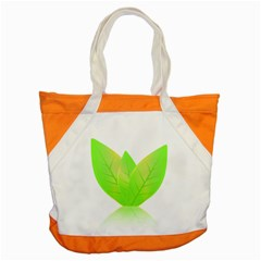 Leaves Green Nature Reflection Accent Tote Bag