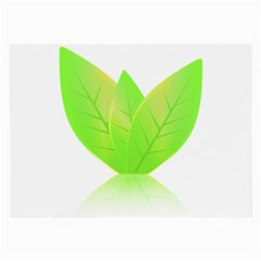 Leaves Green Nature Reflection Large Glasses Cloth (2 Side)