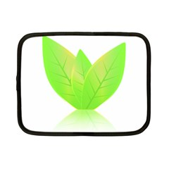 Leaves Green Nature Reflection Netbook Case (small)