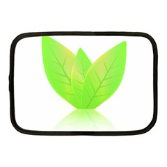 Leaves Green Nature Reflection Netbook Case (Medium)