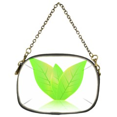 Leaves Green Nature Reflection Chain Purses (one Side)