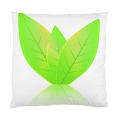 Leaves Green Nature Reflection Standard Cushion Case (two Sides)