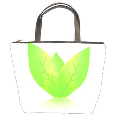 Leaves Green Nature Reflection Bucket Bags