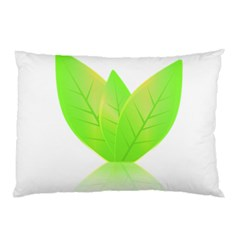 Leaves Green Nature Reflection Pillow Case