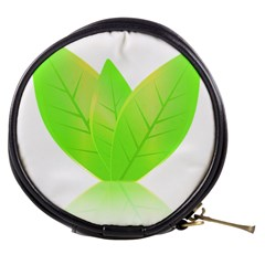Leaves Green Nature Reflection Mini Makeup Bags