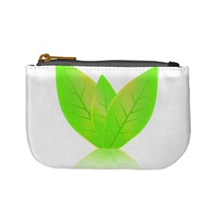 Leaves Green Nature Reflection Mini Coin Purses