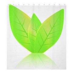 Leaves Green Nature Reflection Shower Curtain 66  X 72  (large)