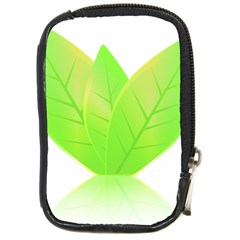 Leaves Green Nature Reflection Compact Camera Cases
