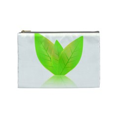 Leaves Green Nature Reflection Cosmetic Bag (medium)
